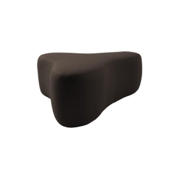Tmavě hnědý puf Softline Chat Felt Melange Mocha, délka 90 cm