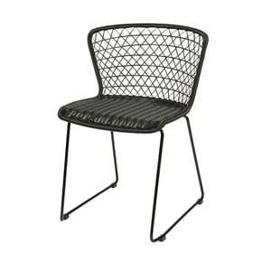 Sada 2 černých židlí s kovovou konstrukcí De Eekhoorn Quadro