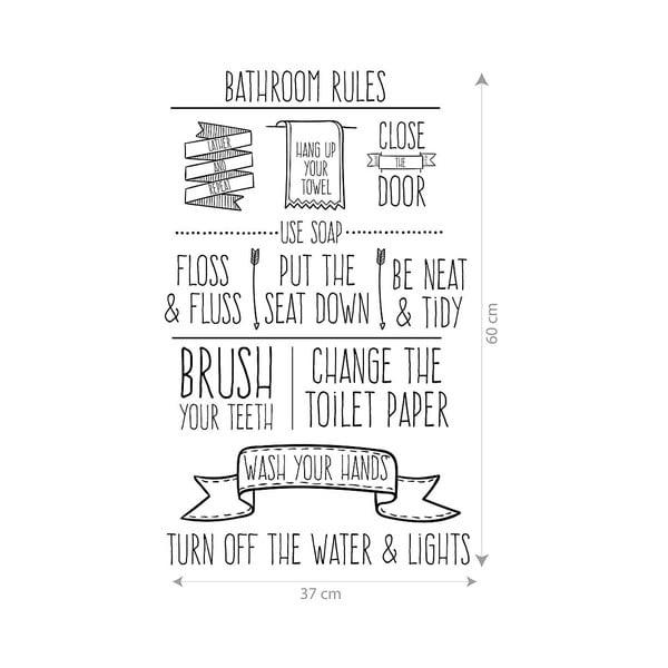Vinylová samolepka na stěnu Little Nice Things Bathroom Rules