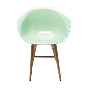 Světle zelená židle s područkami Kare Design Forum