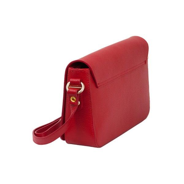 Červená kabelka z pravé kůže Andrea Cardone Nicol