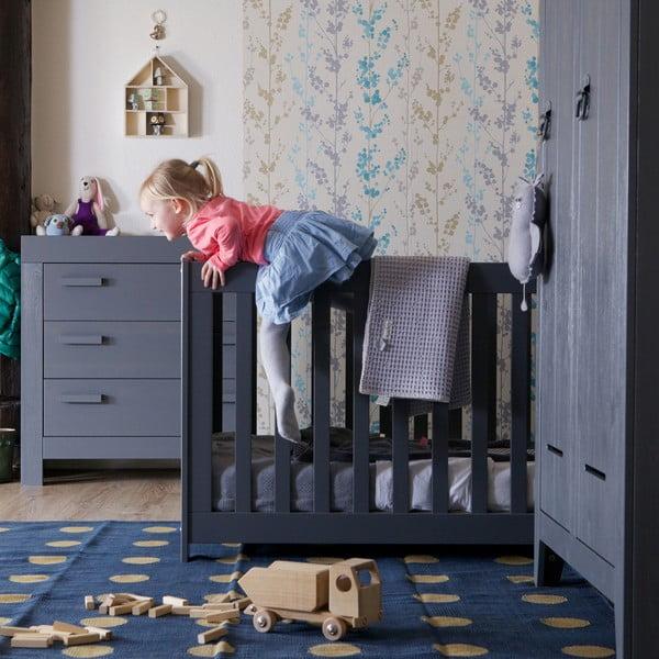 Tmavě šedá dětská postýlka De Eekhoorn New Life