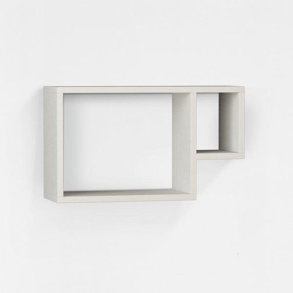 Nástěnná police Kupa 34x57 cm, bílá