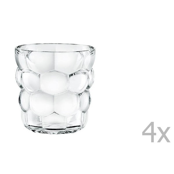 Sada 4 sklenic z křišťálového skla Nachtmann Bubbles, 240ml