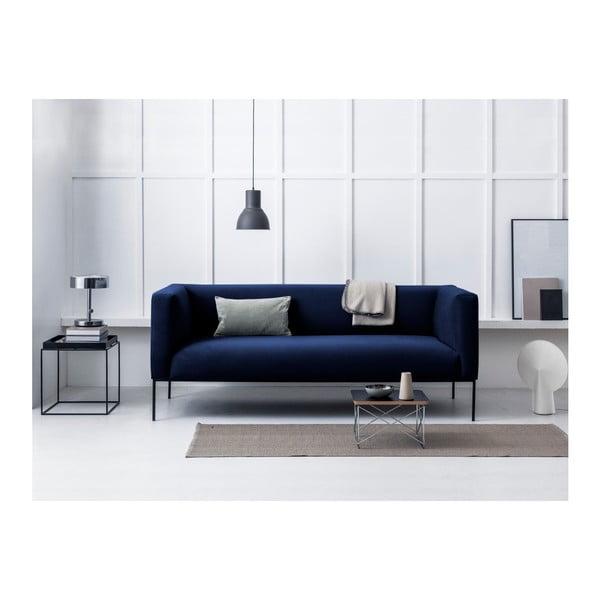 Canapea din catifea cu 3 locuri Windsor & Co Sofas Neptune, albastru închis