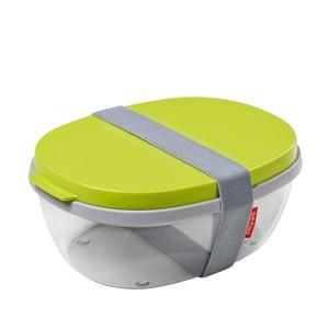 Salátový box s limetkově zeleným víkem Rosti Mepal Ellipse