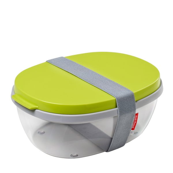 Šalátový box s limetkovozeleným vrchnákom Rosti Mepal Ellipse