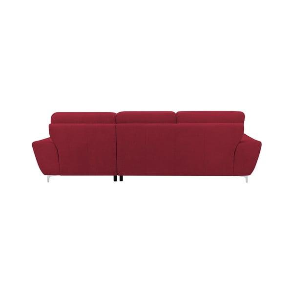 Červená rozkládací rohová pohovka Windsor & Co Sofas Omega, levý roh