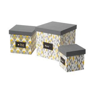 Sada 3 úložných krabic Mauro Ferretti Mexico Tris