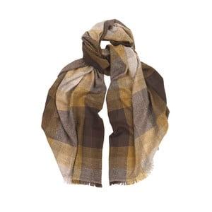 Šátek z kašmíru a merino vlny Hogarth Amber, 184x50cm