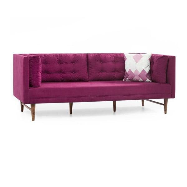 Růžová trojmístná pohovka Balcab Home Eva