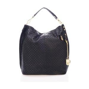 Černá kabelka z pravé kůže Federica Bassi Lauren