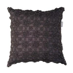 Antracitově šedý polštář Walra Kirsten, 45x45cm