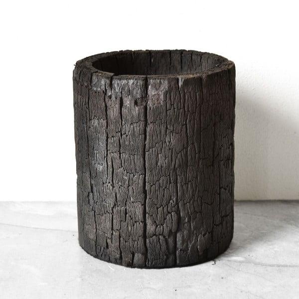 Vypálený palmový květináč Wooden