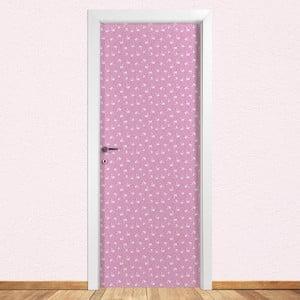 Samolepka na dveře LineArtistica Flamingo Rosa, 80 x 215 cm
