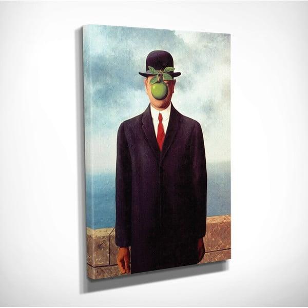 Vászon fali kép Rene Magritte The Son of Man másolat, 30 x 40 cm