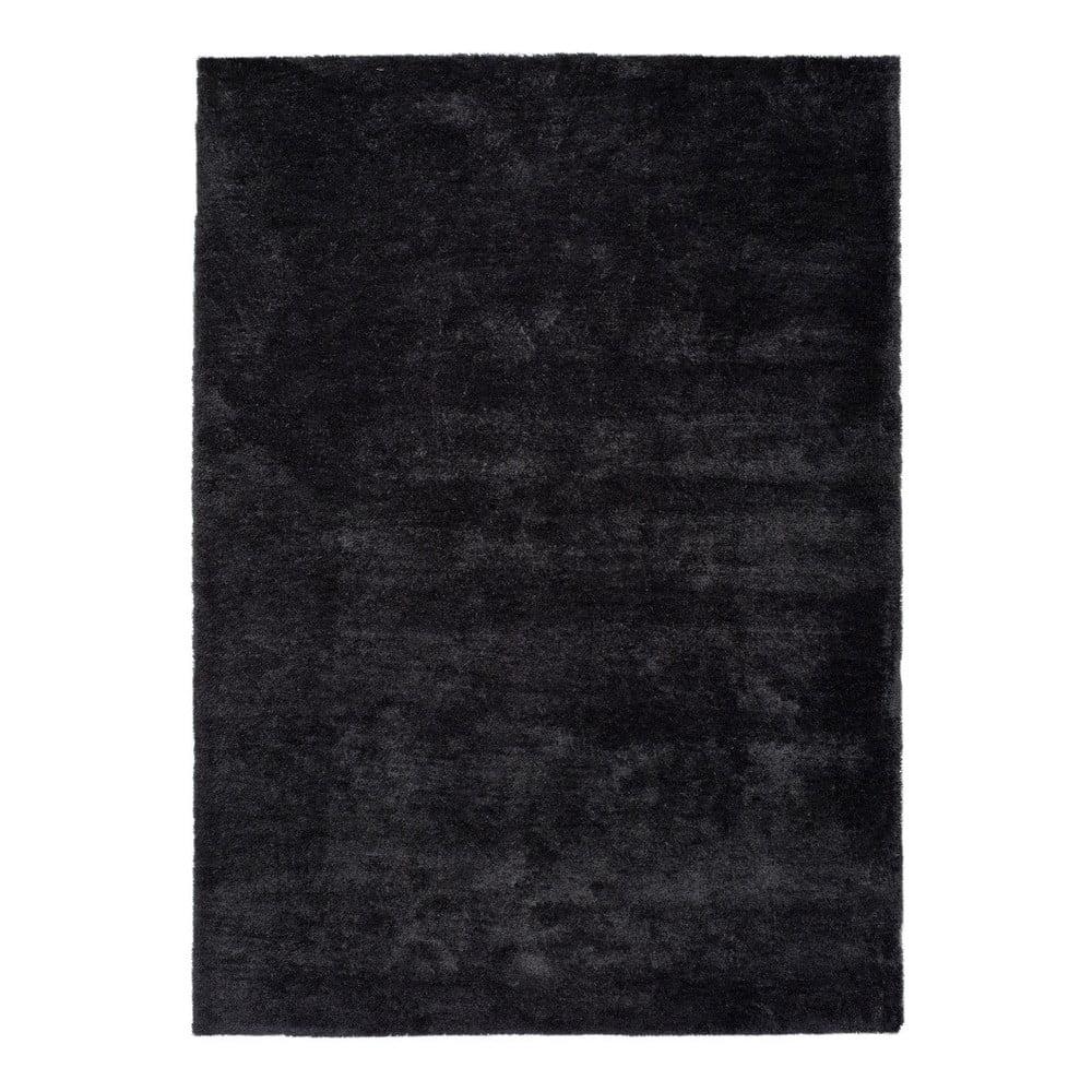 Produktové foto Antracitově černý koberec Universal Shanghai Liso, 60x110cm