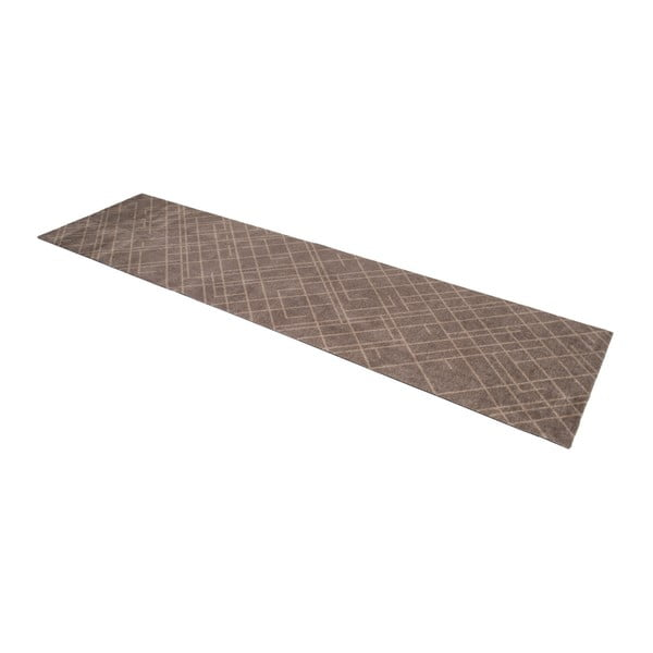 Hnědobéžová rohožka Tica Copenhagen Lines, 67x250cm