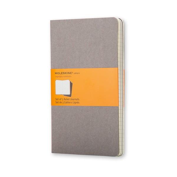 Sada 3 malých notesů Moleskine Cahier, 9x14cm