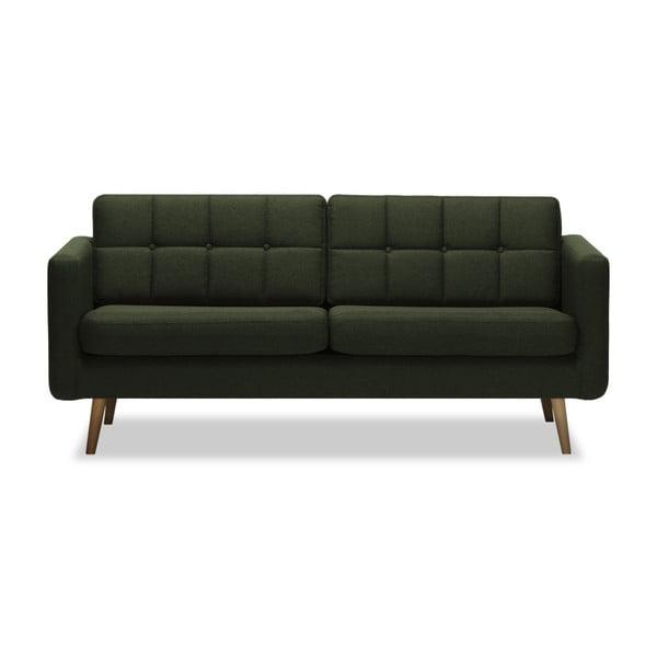 Canapea cu 3 locuri Vivonita Magnus, verde închis