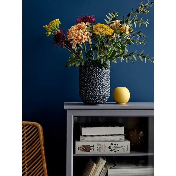 Niebieski wazon kamionkowy Bloomingville Vase