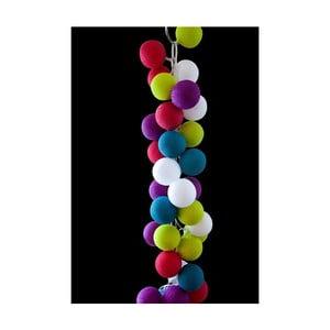 Světelný řetěz Rainbow Drops, 50 ks světýlek