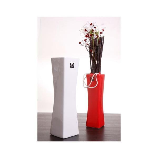 Váza Gardo 32 cm, bílá