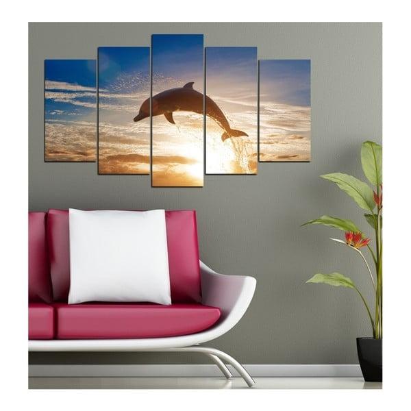 Vícedílný obraz 3D Art Delphine Jump, 102x60cm