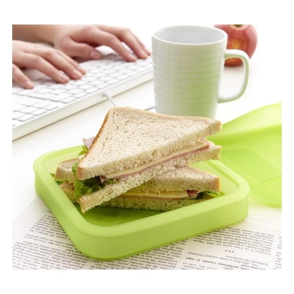 Silikonový obal na sandwich Lékué, zelený