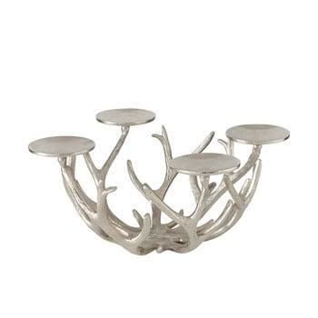 Suport lumânări pentru Crăciun Boltze Borgfjell, argintiu