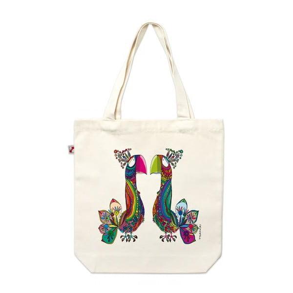 Plátěná taška Páv