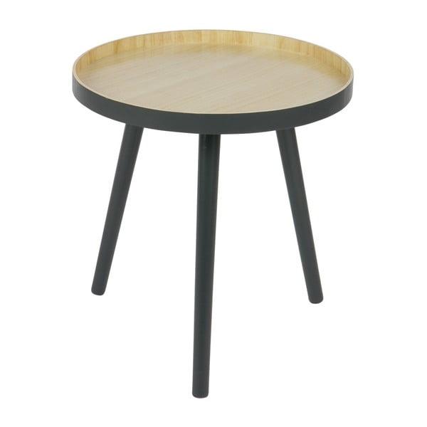 Sasha tárolóasztal antracitszürke konstrukcióval, ø 41 cm - WOOOD