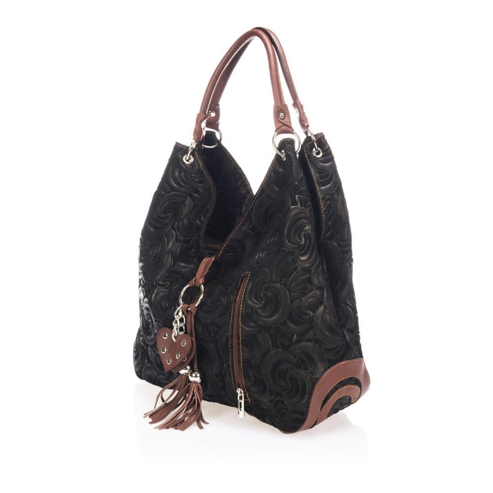 ... Černá kožená kabelka Giorgio Costa Terst ... 02cd483f86e