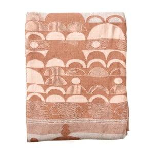 Pătură din bumbac Södahl Brushed, 130 x 170 cm, portocaliu