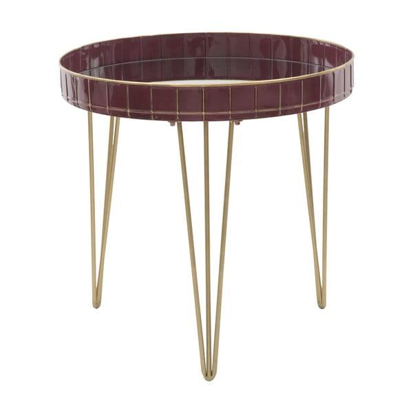 Bordowy stolik Mauro Ferretti Caffe