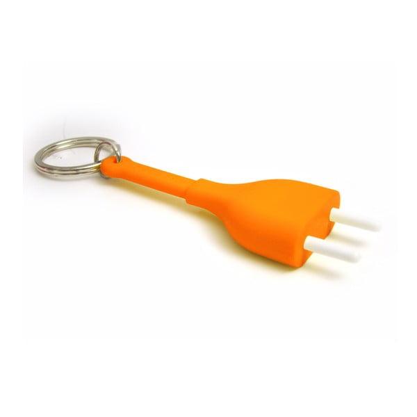 Set 2 věšáků Unplug, oranžový