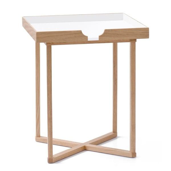 Bílý odkládací stolek Wireworks Damieh, 37x45 cm