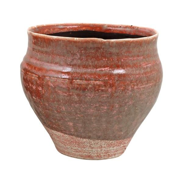 Růžový květináč z keramiky Strömshaga Nolhaga, Ø 24 cm