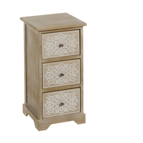 Komoda z 3 szufladami z drewna paulownia Unimasa Mandala, wys. 59 cm