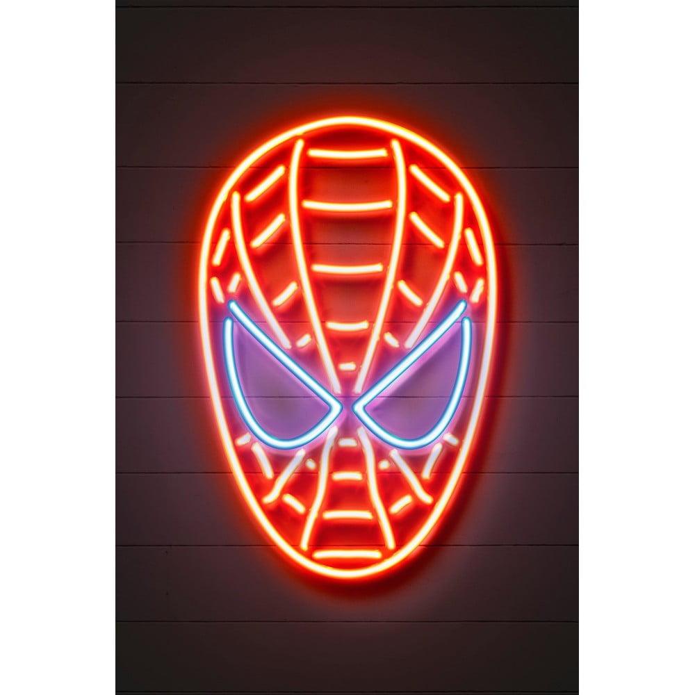Plakát Blue-Shaker Neon Art Spider Man, 30 x 40 cm