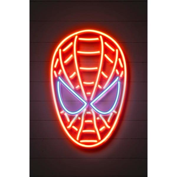 Neon Art Spider Man poszter, 30 x 40 cm - Blue-Shaker