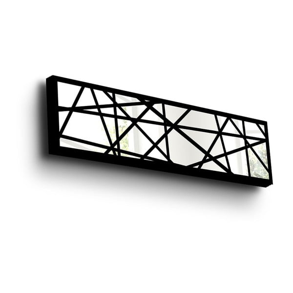 Oglindă decorativă de perete cu ramă din lemn Vera, 108 x 28 cm
