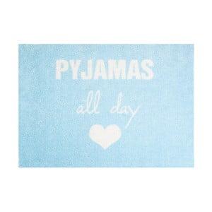 Modrá rohožka Mint Rugs StateMat Pyjamas All Day,50x75cm