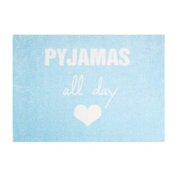 Covor ușă Hanse Home StateMat Pyjamas All Day, 50 x 75 cm, albastru