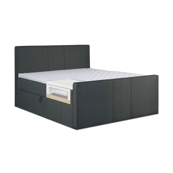 Černá postel s matrací Gemega Amberbox, 180x200 cm