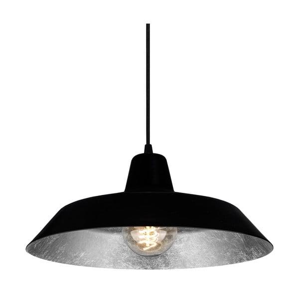 Černostříbrné závěsné svítidlo Bulb Attack Cinco