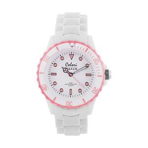 Hodinky Colori 40 White/Baby Pink