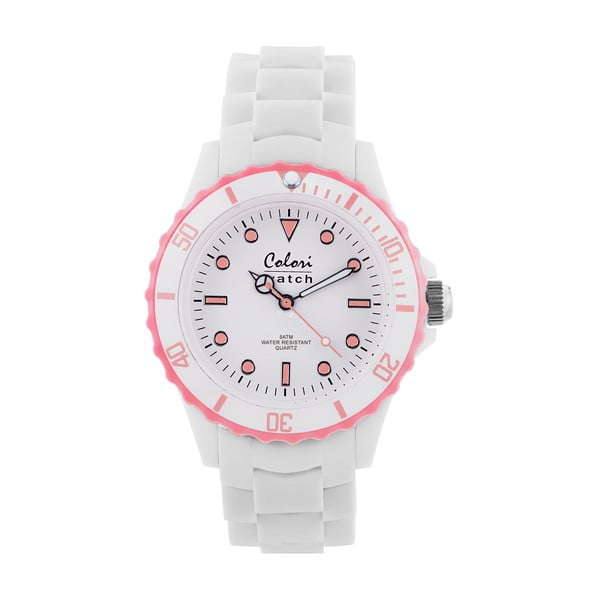 Hodinky Colori 40 White/Baby Pink