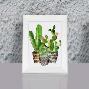 Zarámovaný obraz Dekorjinal Pouff Cacti, 23x17cm