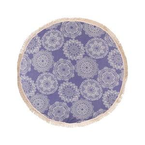Prosop baie hammam Begonville Lace, diametru 150 cm, albastru